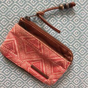 Roxy boho ID wallet leather